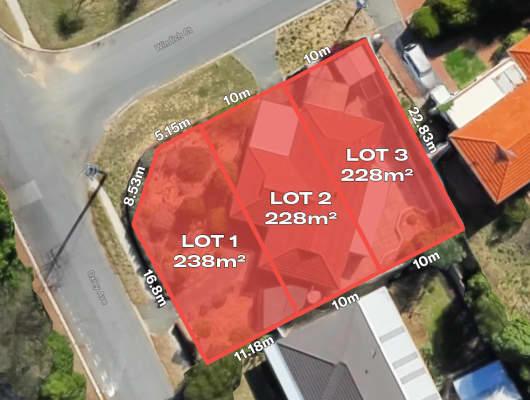 Proposed Lots 1-3/43 Oxley Avenue, Padbury, WA, 6025